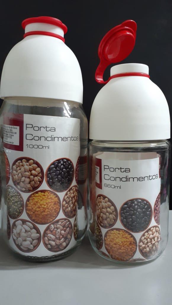 Kit Porta Condimentos Garrafa 660 ml e 1000ml