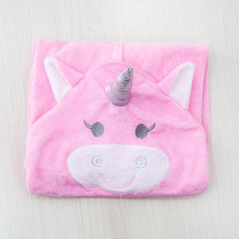 Kit Toalha de Banho + 3 toalhinhas de boca Unicornio
