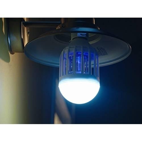 Lâmpada LED 60W Luz Branca 2 em 1 com Armadilha para Mosquitos