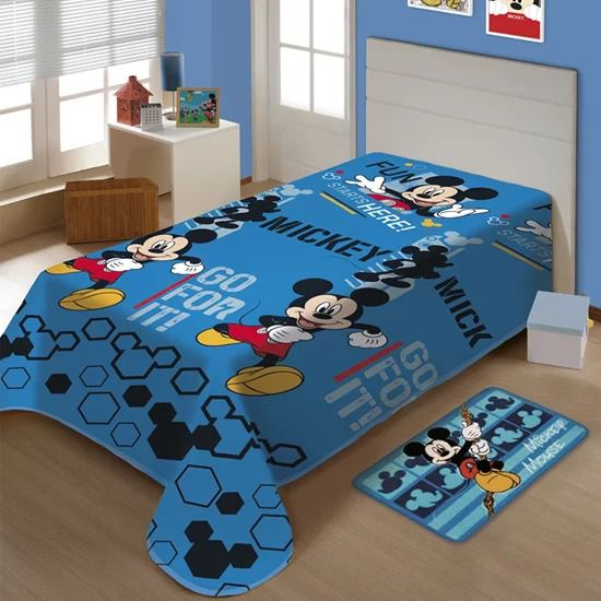 Manta Disney Soft Solteiro 1,50 x 2,00m Mickey Fun Jolitex