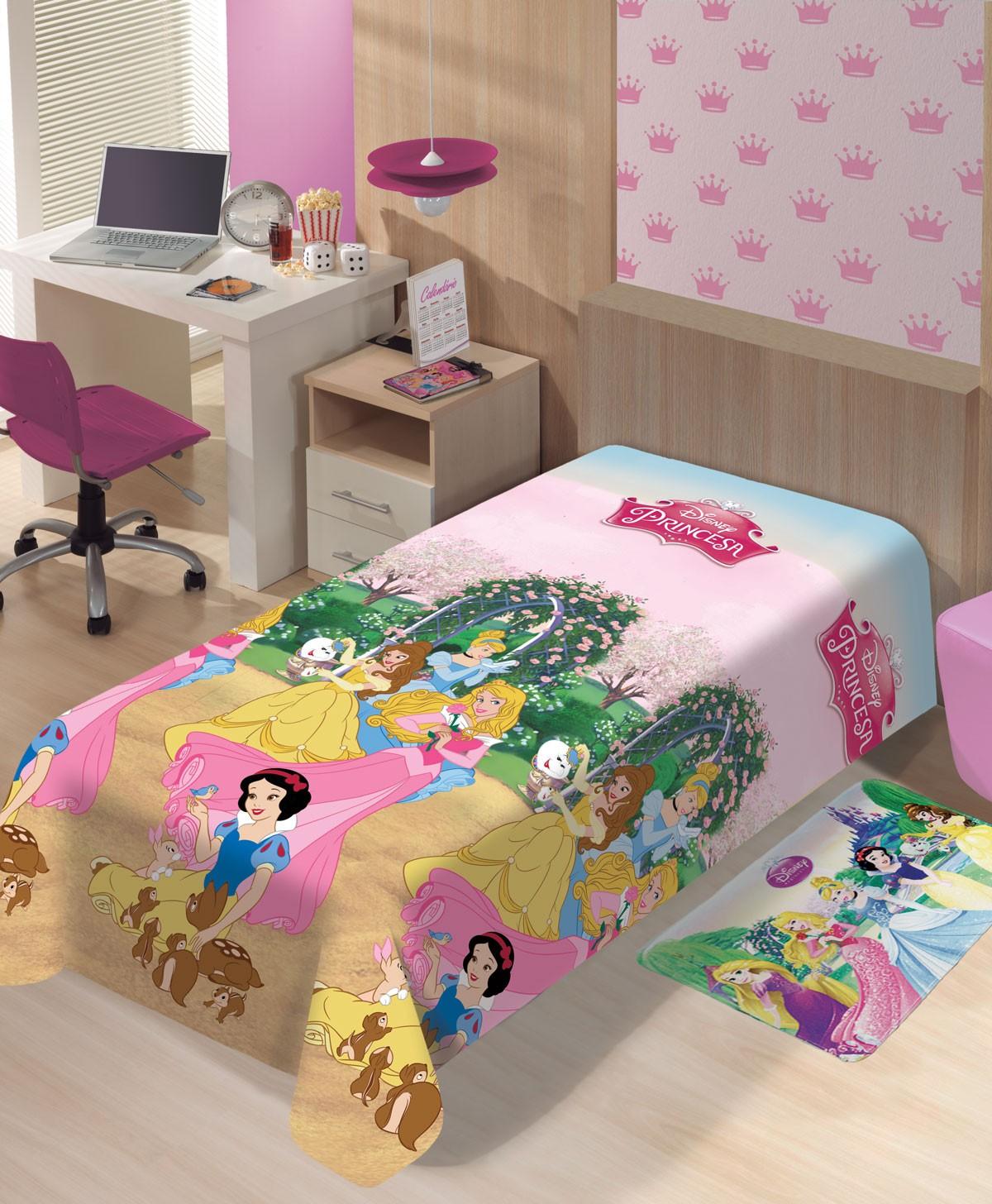 Manta Infantil Disney Soft Princesas Jardim