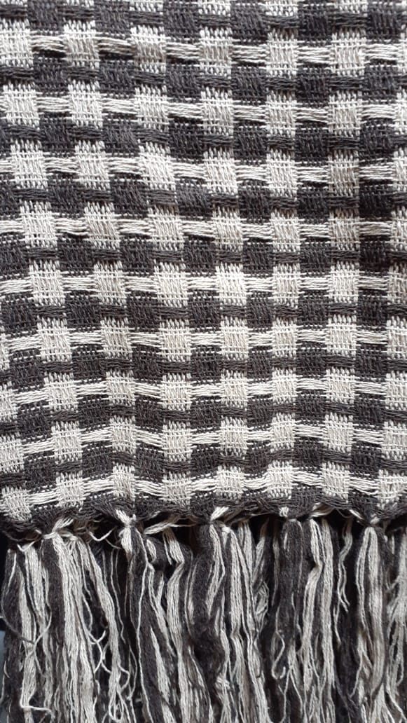 Manta Para Sofá  Marrom E Bege 1,40x1,80
