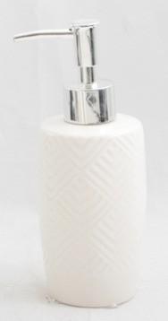 Porta Sabonete Branco 320 ml Geometrico Fusion