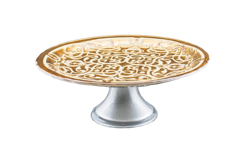 Prato Decorativo com Pé Pasha  21 cm
