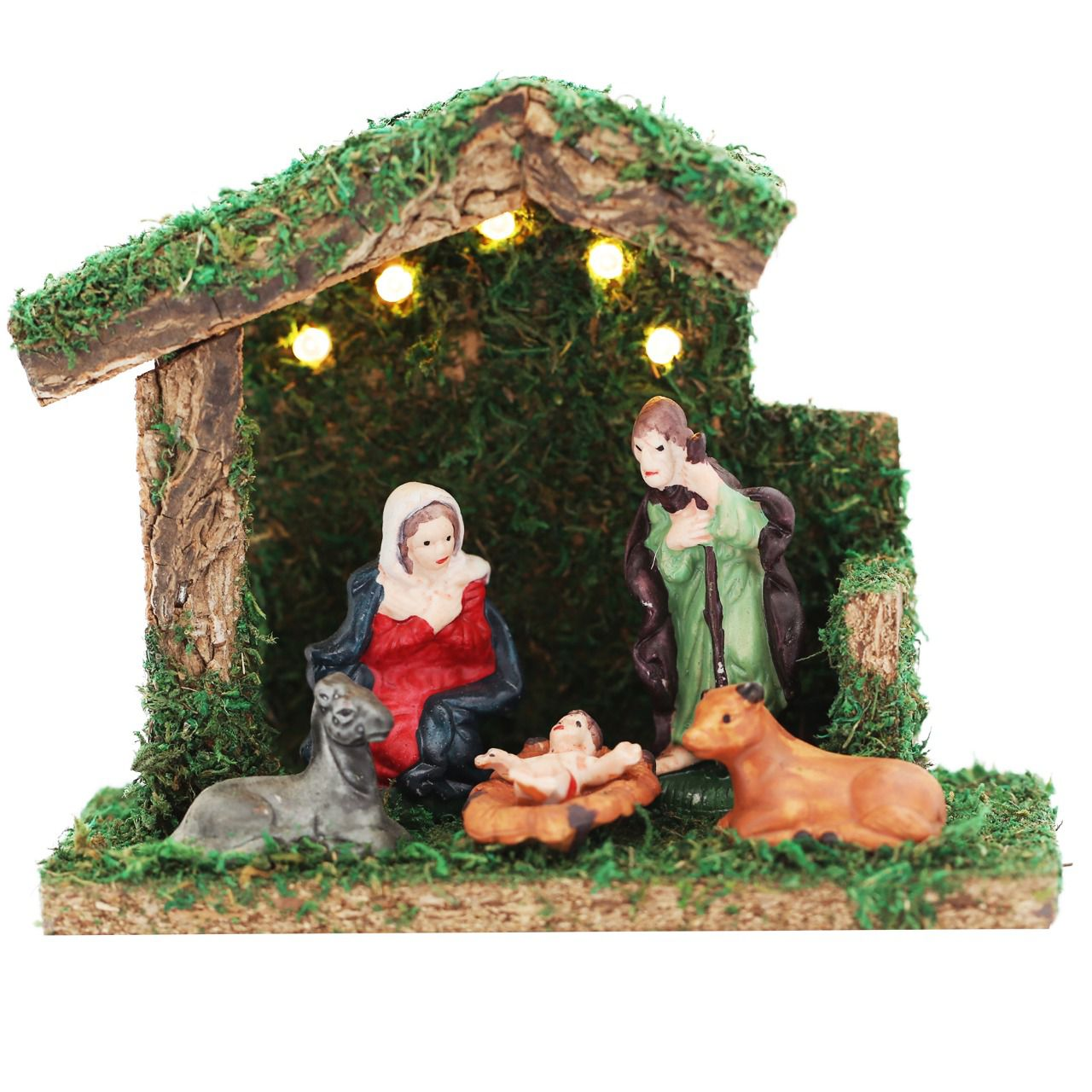 PRESEPIO PORCELANA 5LED 5FIG/6CM CS 15CM