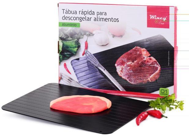 Tabua Cozinha Degelo Descongelar Carne Aluminio 23x16,5