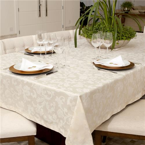 Toalha de Mesa Impermeavel Quadrada 160x160 Pietra Home Floral  cm - Angora