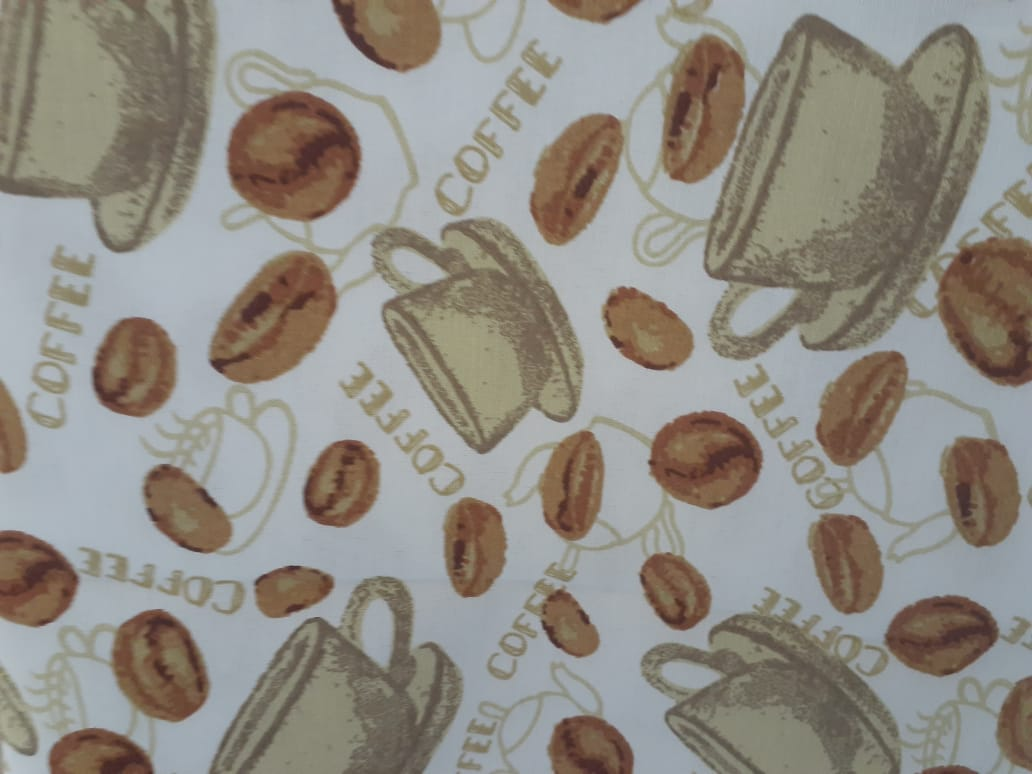 Toalha de Mesa Quadrada Impermeavel 160X160 cm Cafe