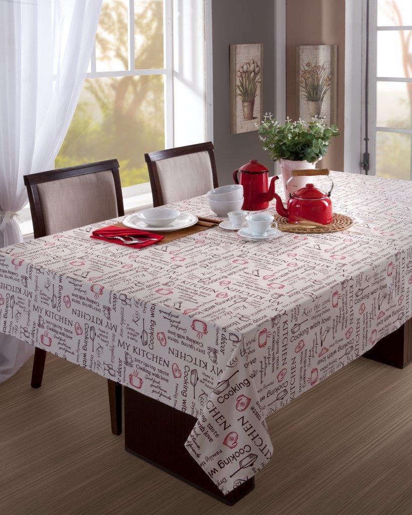 Toalha de Mesa Quadrada Impermeavel 160X160 cm Kitchen