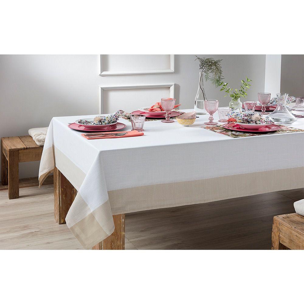 Toalha de mesa Retangular Chamonix Naturalle 1,80x3,50