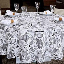 Toalha de Mesa Retangular Impermeavel 160x220 cm Azeite