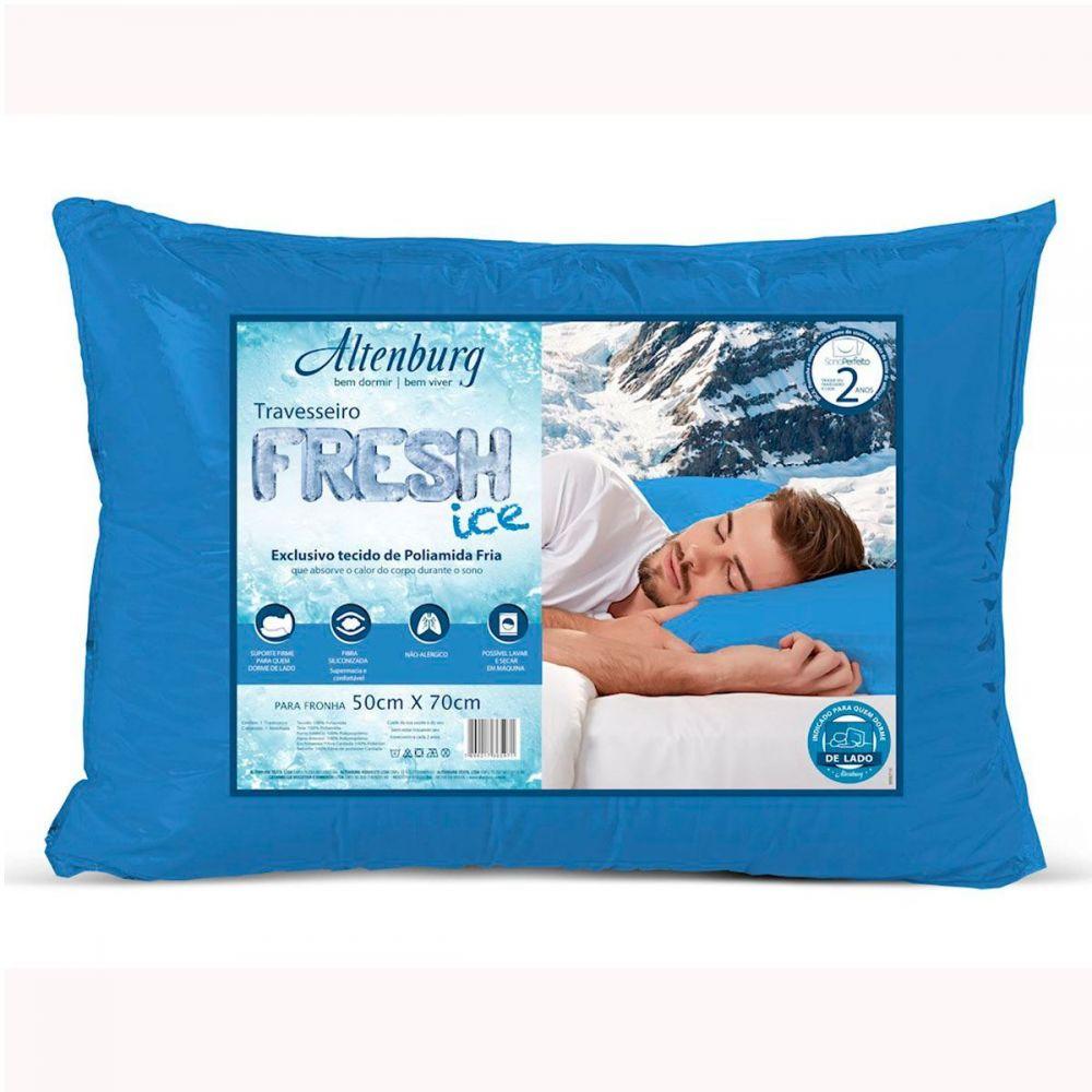 Travesseiro Altenburg Fresh Ice 0,48x0,70m Suporte Firme