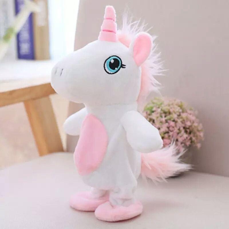 Unicornio Pelúcia Que Anda e  Falante Yuni - Repete Tudo
