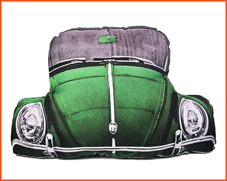 Almofada Fusca verde com Ziper