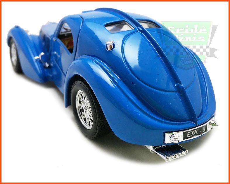 Bugatti Atlantic 1936 c/ Caixa Expositora e base CUSTOMIZADO - escala 1/24