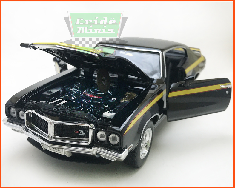 Buick GSX 1970 black - escala 1/24