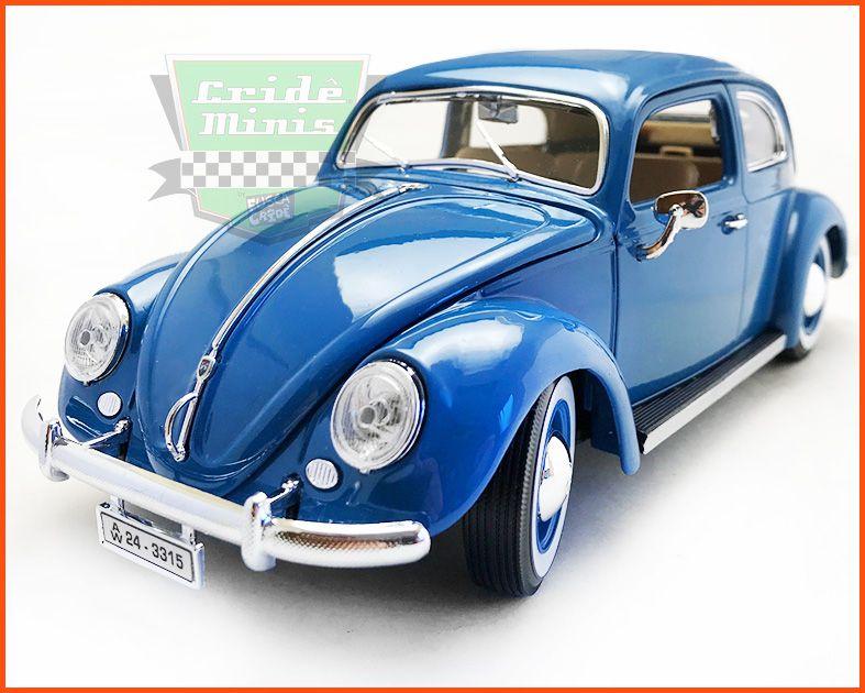 Burago Fusca VW Oval Window 1955 - escala 1/18