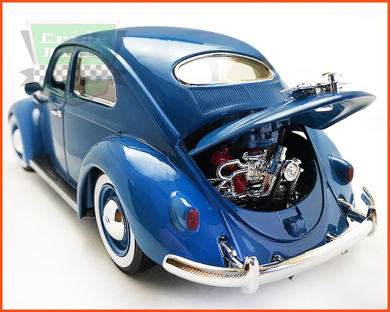 Burago Fusca VW Oval Window 1955 - escala 1/18