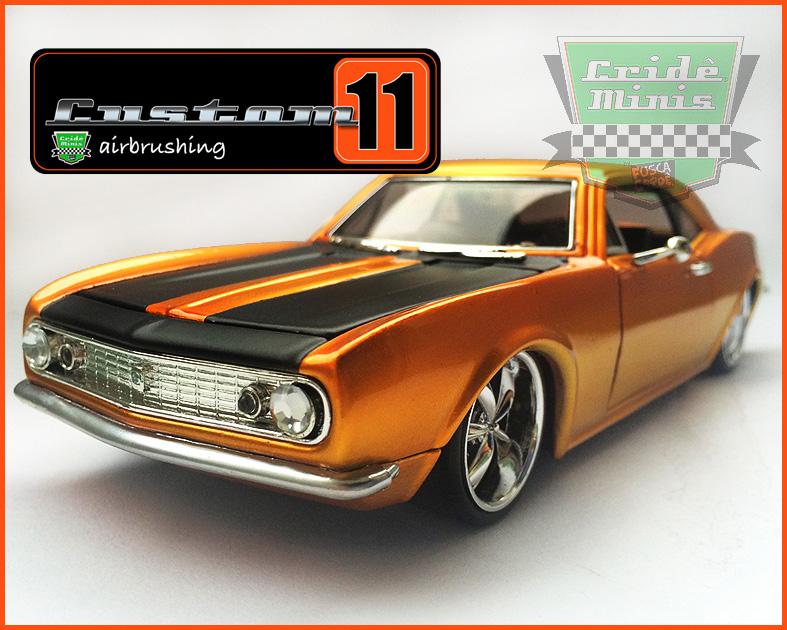 Camaro 1967 - CUSTOMIZADO 10 dias de produção - escala 1/24
