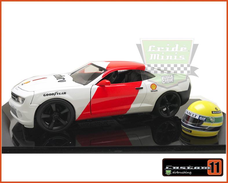 Camaro SS 2010 Homenagem ao Senna Customizado Peça Exclusiva - escala 1/24