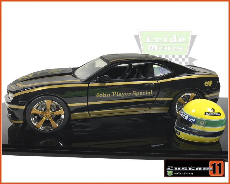 Camaro SS 2010 John Player Homenagem ao Senna Customizado Peça Exclusiva - escala 1/24