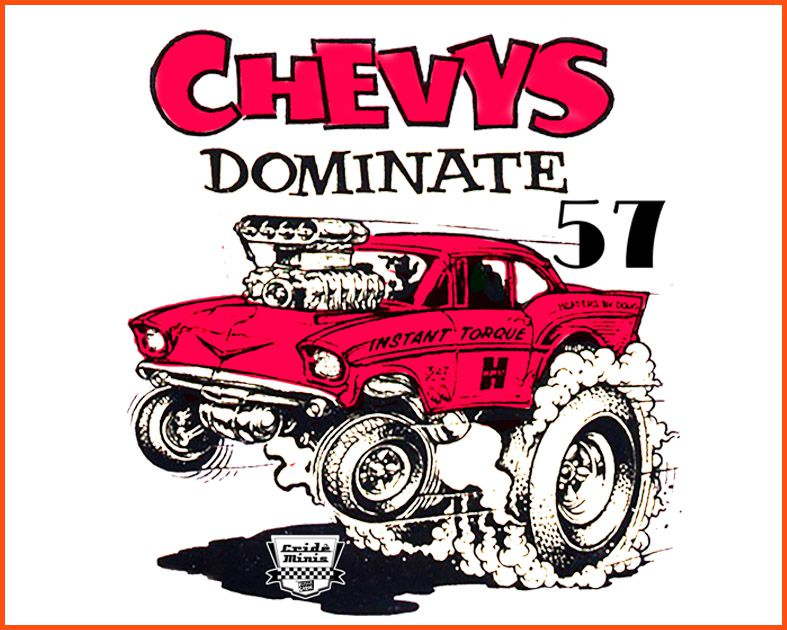 Camiseta Crideminis Chevy 57 Dominate