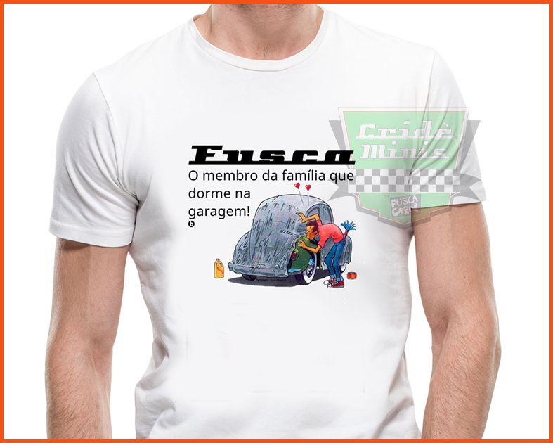 Camiseta Fusca dorme na garagem!