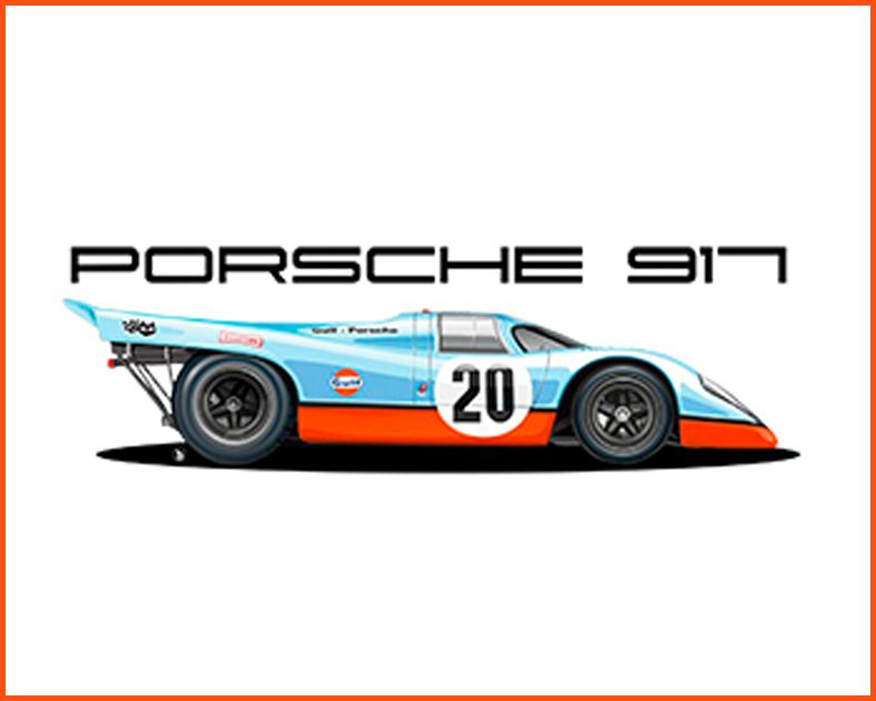 Camiseta - Porsche 917 - Masculino
