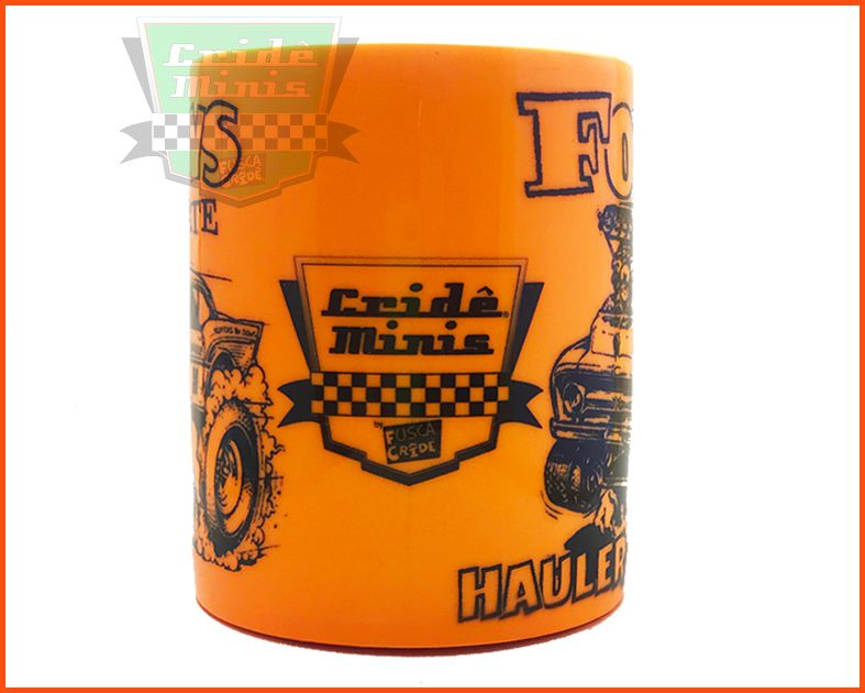 Caneca Chevy and Ford Laranja Fluorescente