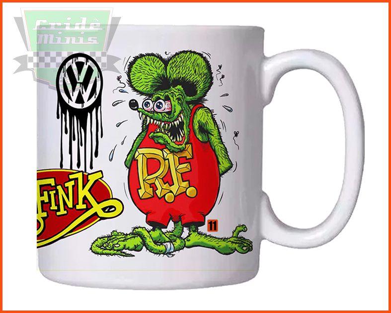 Caneca Rat Fink VW's