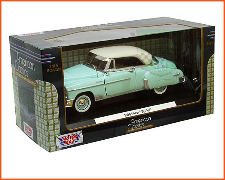 Chevrolet Belair 1950 com caixa expositora e base - Escala 1/24