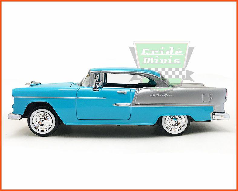 Chevrolet Belair 1955 azul/prata - Escala 1/24