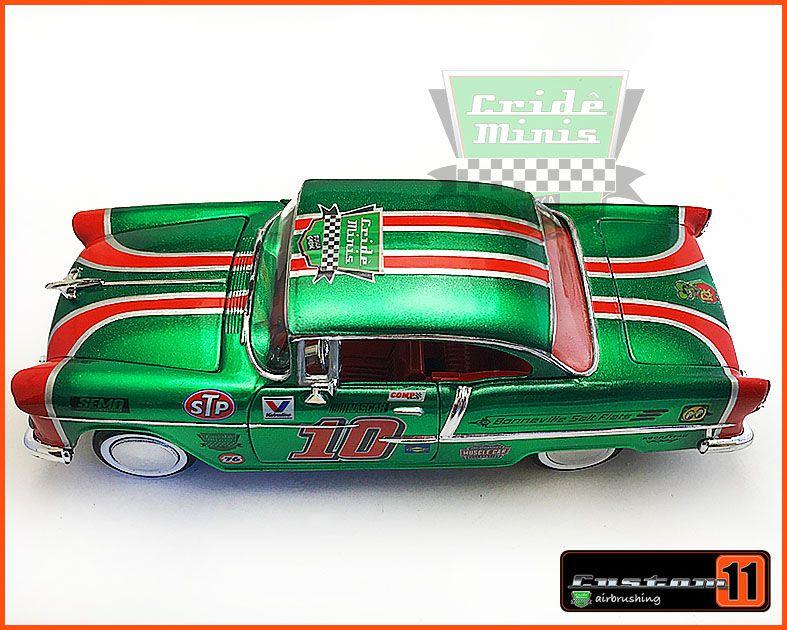 Chevrolet Belair 1955 Bonneville Salt Flats c/ Caixa de Madeira - Peça única EXCLUSIVA - Escala 1/24