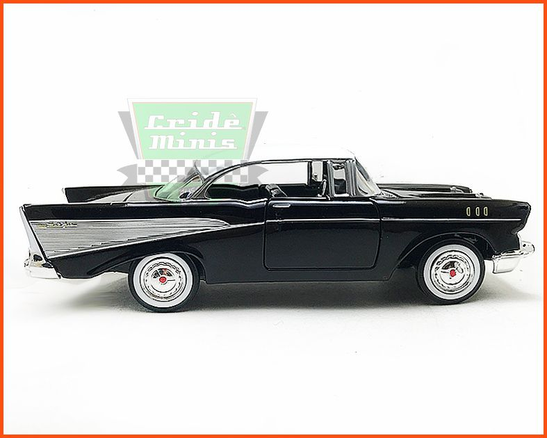 Chevrolet Belair 1957 Black - Escala 1/24