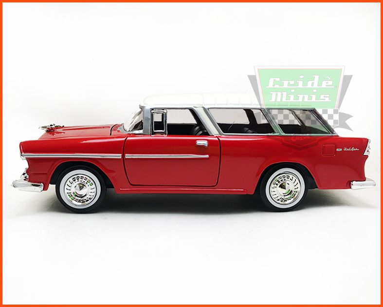 Chevrolet Belair Nomad 1955 red - Escala 1/24