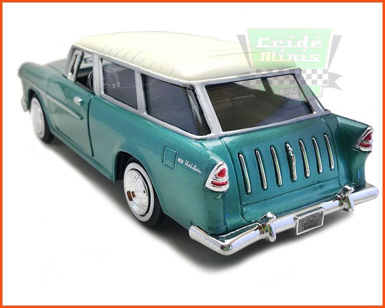 Chevrolet Belair Nomad 1955 verde - Escala 1/24