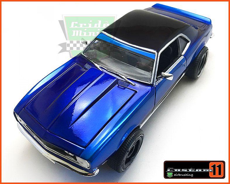 Chevrolet Camaro 1968 c/ Caixa de Madeira - Peça única EXCLUSIVA - Escala 1/24