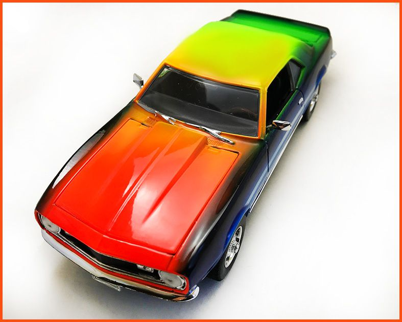 Chevrolet Camaro 1968 CUSTOMIZADO - Peça única EXCLUSIVA - Escala 1/24