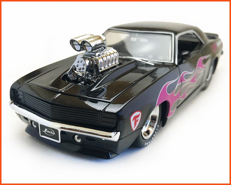 Chevrolet Camaro 1968 Muscle Black - Escala 1/24