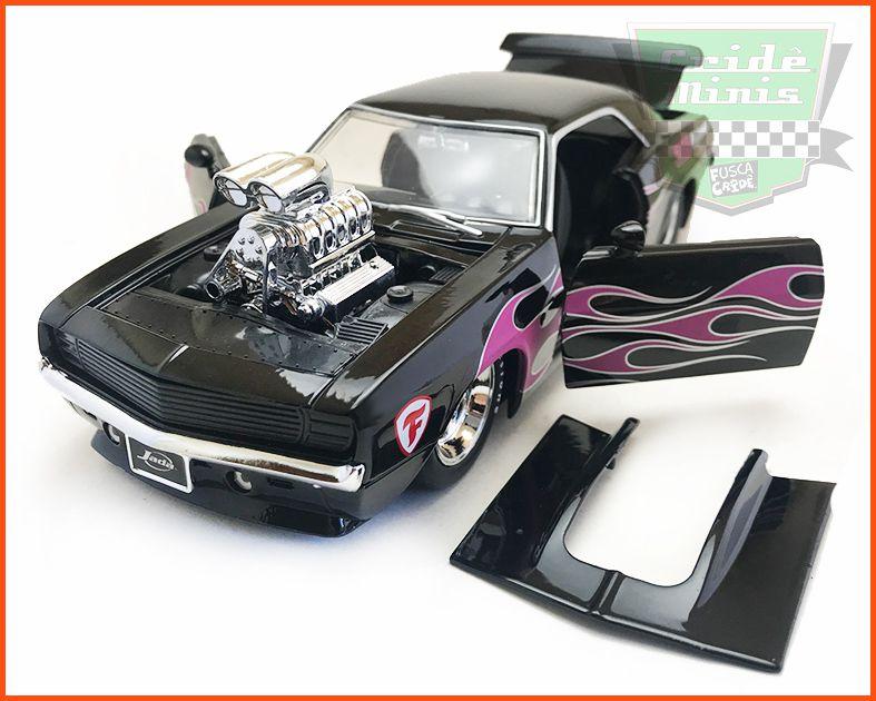 Chevrolet Camaro 1968 Muscle Black - Escala 1/24