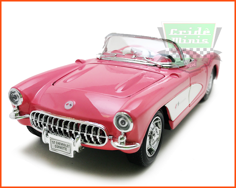 Chevrolet Corvette 1957 Rosa - escala 1/24