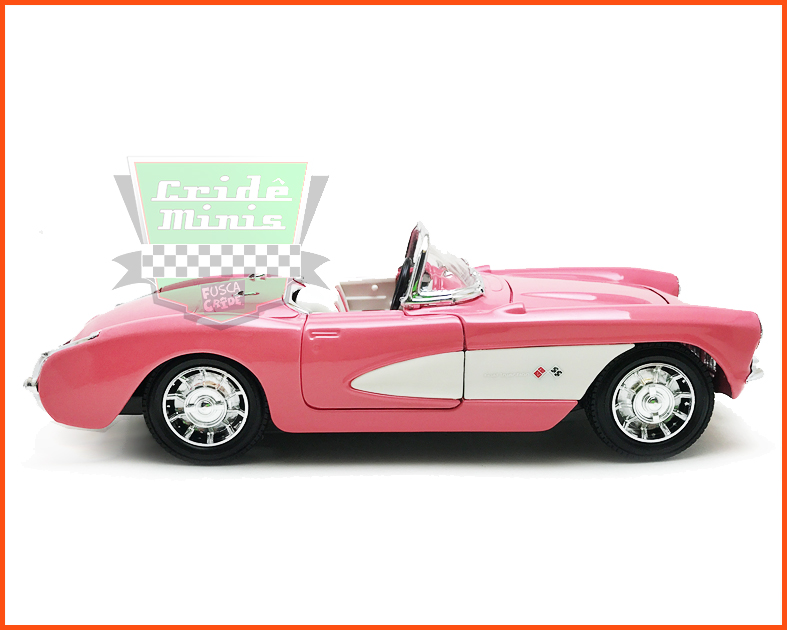 Chevrolet Corvette 1957 Rosa - escala 1/24