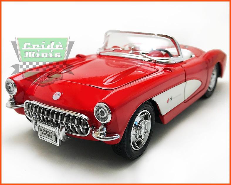 Chevrolet Corvette Conversível 1957 - escala 1/24