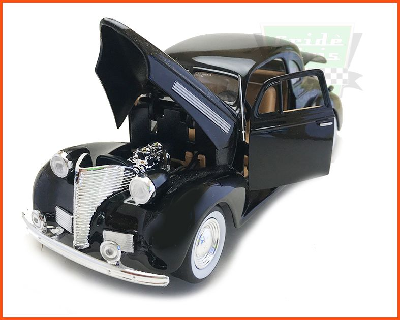 Chevrolet Coupe 1939 Black - Escala 1/24