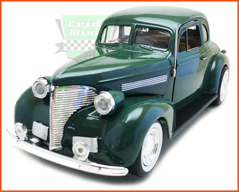 Chevrolet Coupe 1939 Green - Escala 1/24