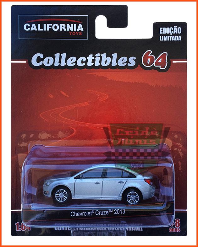Chevrolet Cruze Sedan 2013 prata - escala 1/64