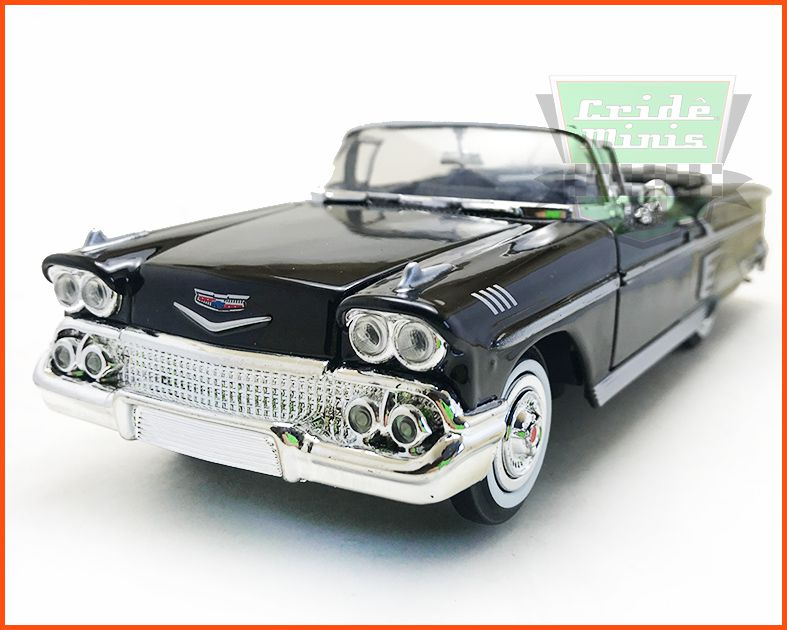 Chevrolet Impala 1958 Conversível Black - Escala 1/24