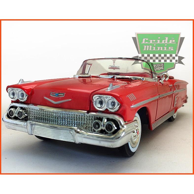 Chevrolet Impala 1958 Conversível - Escala 1/24