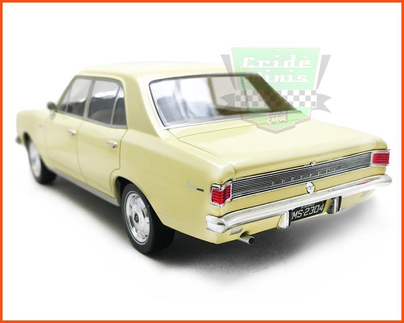 Chevrolet Opala 2500 1969 Amarelo Claro - Carros Nacionais - escala 1/24