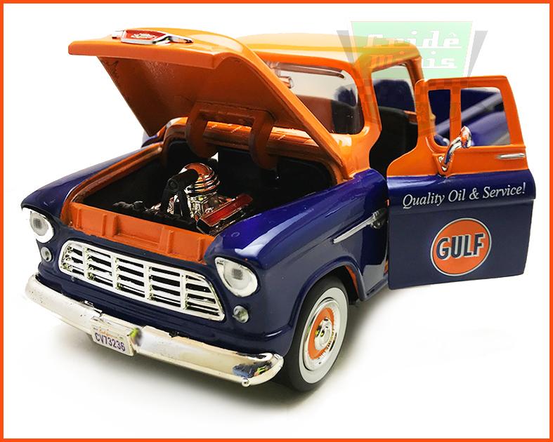 Chevrolet Pick-up 1955 Equipe Gulf - escala 1/24